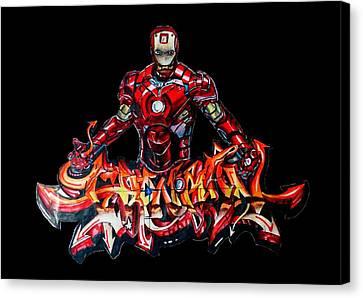 The Ironman  Canvas Print by Chiranjib Bhorali