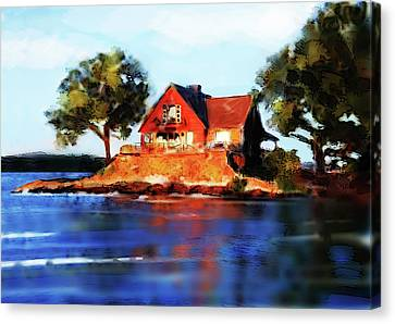 The Island House Canvas Print by Russell Pierce