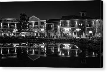 The Island Shops In Black And White Canvas Print by Greg Mimbs
