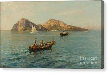 The Isle Of Capri Canvas Print by MotionAge Designs