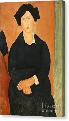 The Italian Woman, 1917  Canvas Print by Amedeo Modigliani