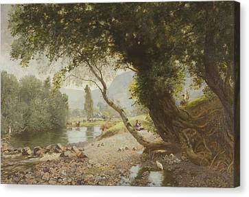 The Ivy, The Oak And The Bonnie Birken Tree Canvas Print by David Murray