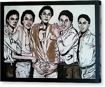 The Jacksons Five  Canvas Print