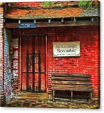 The Jacksonville Mercantile Building Canvas Print by Thom Zehrfeld