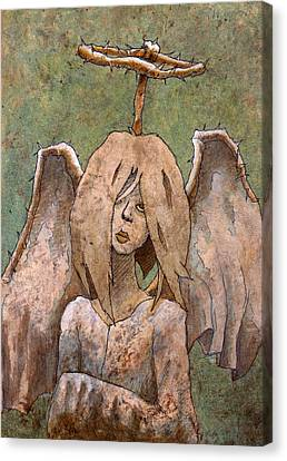 The Jaded Angel Canvas Print by Ethan Harris