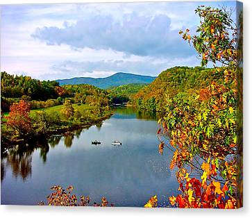 The James River Early Fall Canvas Print by The American Shutterbug Society