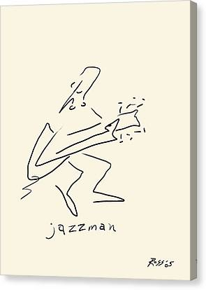 The Jazz Man Canvas Print by Ross Powell