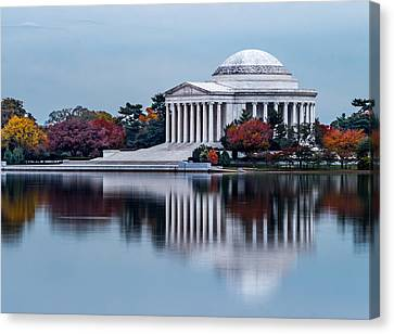 The Jefferson In Baby Blue Canvas Print by Ed Clark