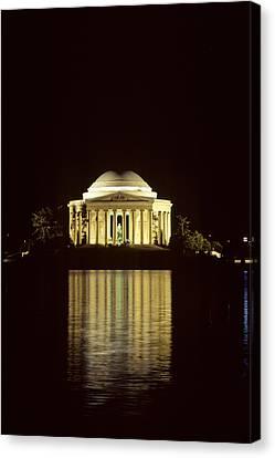 The Jefferson Memorial At Night Canvas Print by Kenneth Garrett