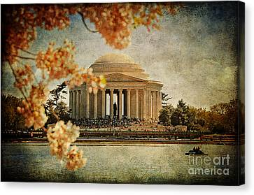 The Jefferson Memorial Canvas Print by Lois Bryan