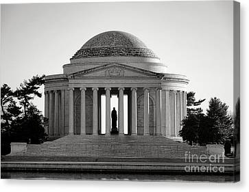 The Jefferson Memorial  Canvas Print by Olivier Le Queinec