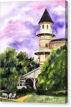 The Jekyll Island Club Canvas Print by Karen Casciani