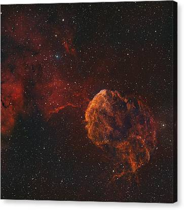 The Jellyfish Nebula Canvas Print by Rolf Geissinger