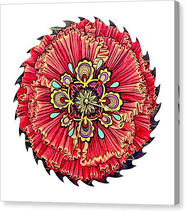 The Jessie-rose Clock Blossom Canvas Print by Jessica Sornson