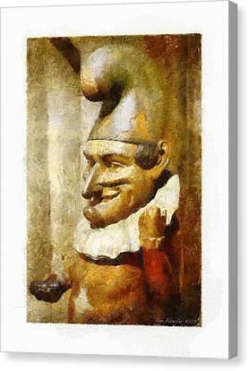 The Jester Canvas Print by Ron Alderfer