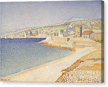 Signac Canvas Print - The Jetty At Cassis by Paul Signac
