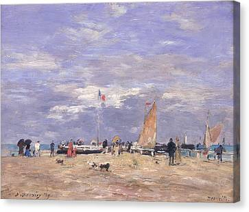 The Jetty At Deauville Canvas Print