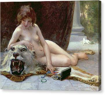 Woman Nude Canvas Print - The Jewel Case by Guillaume Seignac