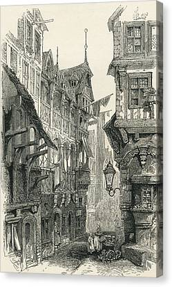 The Jewish Quarter, Frankfurt Am Main Canvas Print by Vintage Design Pics