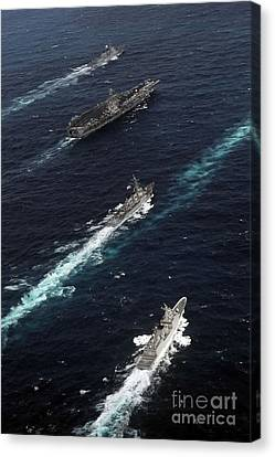 The John C. Stennis Carrier Strike Canvas Print by Stocktrek Images