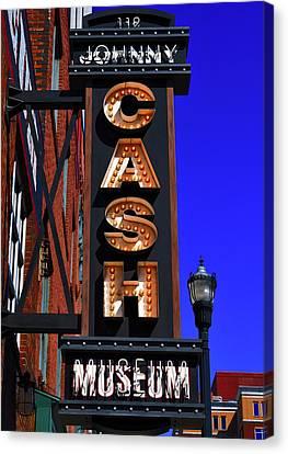 The Johnny Cash Museum - Nashville Canvas Print by Paul Brennan