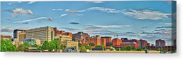 Canvas Print featuring the photograph The Johns Hopkins Hospital Complex by Mark Dodd