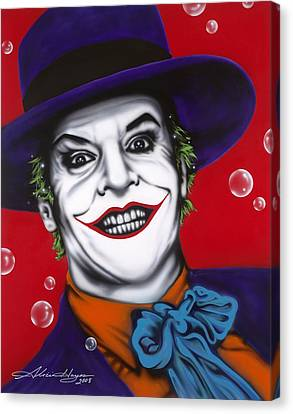 The Joker Canvas Print by Alicia Hayes