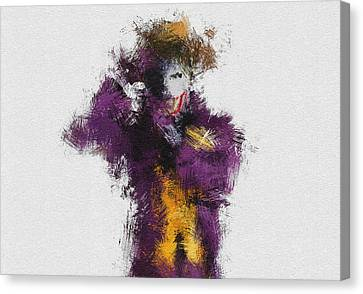 Character Portraits Canvas Print - The Joker by Miranda Sether