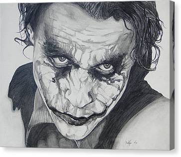 The Joker Canvas Print by Stephen Sookoo