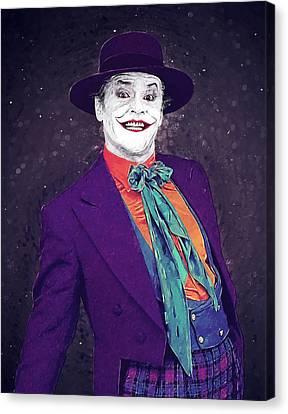 Heath Ledger Canvas Print - The Joker by Taylan Apukovska