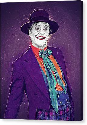 The Joker Canvas Print by Taylan Apukovska