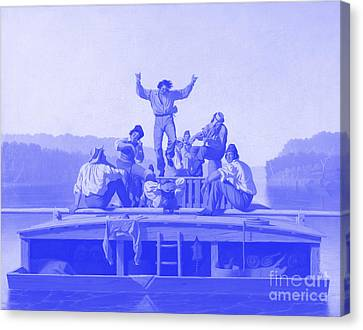 The Jolly Flatboatmen Japanese Porcelain Concept Canvas Print