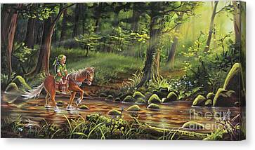 Elves Canvas Print - The Journey Begins by Joe Mandrick