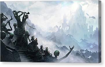 The Journey Canvas Print by Guillem H Pongiluppi