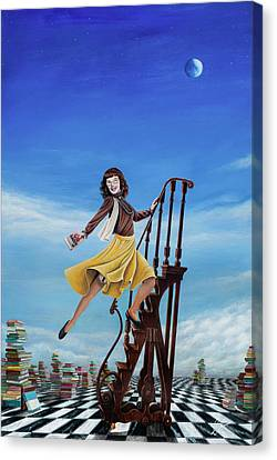 The Journey Of A Librarian Canvas Print by Cindy D Chinn