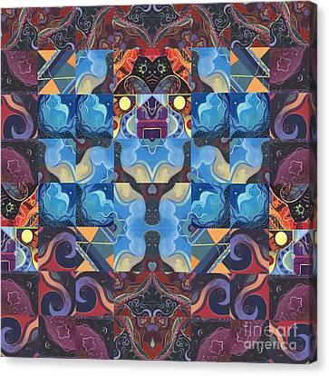 Figment Canvas Print - The Joy Of Design Mandala Series Puzzle 6 Arrangement 6 by Helena Tiainen