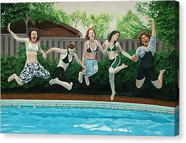 The Joy Of Girls Canvas Print by Allan OMarra