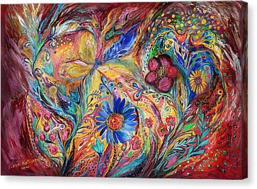 The Joyful Iris Canvas Print by Elena Kotliarker