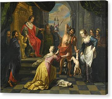 The Followers Canvas Print - The Judgment Of Solomon by Follower of Peter Paul Rubens