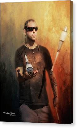 Canvas Print featuring the photograph The Juggler by Wallaroo Images