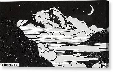 Mountain Canvas Print - The Jungfrau by Felix Edouard Vallotton