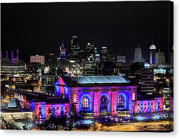 Canvas Print featuring the photograph The Kansas City Skyline by JC Findley