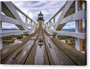 Saint George Canvas Print - The Keeper's Walkway At Marshall Point In Color by Rick Berk