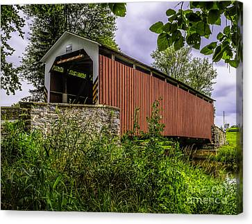 Canvas Print featuring the photograph The Kellers Covered Bridge by Nick Zelinsky