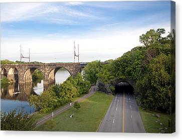 Kelly Drive Canvas Print - The Kelly Drive Rock Tunnel by Bill Cannon