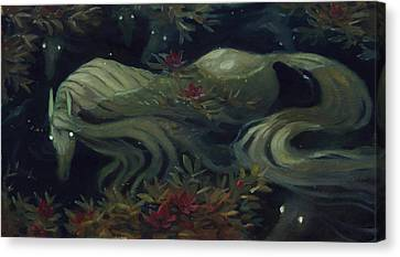 The Kelpie Pond Canvas Print by Jaimie Whitbread