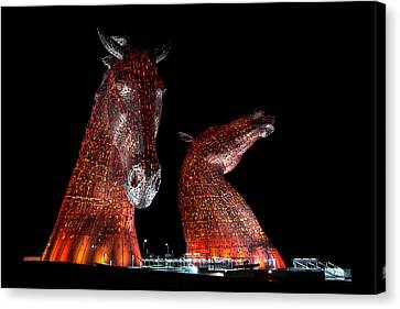 The Kelpies Of Falkirk Canvas Print by Gary Finnigan