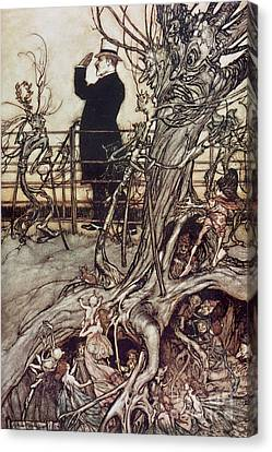 The Kensington Gardens Are In London Where The King Lives Canvas Print by Arthur Rackham