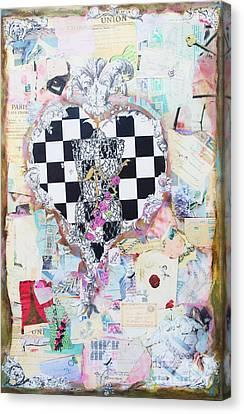 Ephemera Canvas Print - The Key - Ephemera Fashion Heart by WALL ART and HOME DECOR