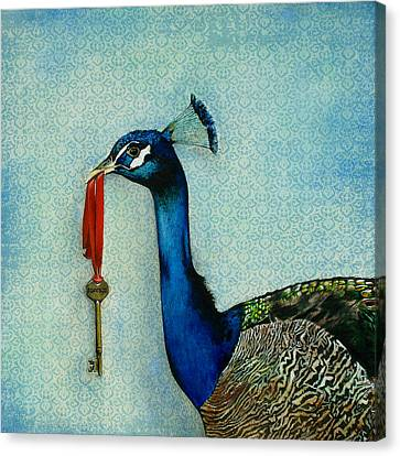 Feathers Canvas Print - The Key To Success by Carrie Jackson